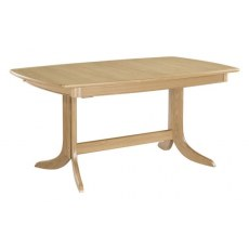 Nathan Shades Oak Extending Boat Shaped Pedestal Dining Table