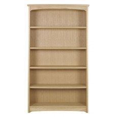 Nathan Shades Oak Tall Double Bookcase