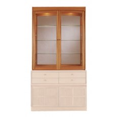 Glazed Display Top Unit  - Teak