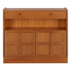 Low Bookcase with Doors   - Teak