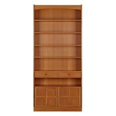 Tall Bookcase with Doors  - Teak