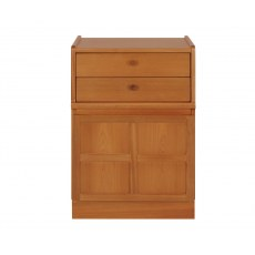 2 Drawer Mid Storage Unit - Teak
