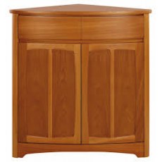 Shaped Corner Base Unit - Teak