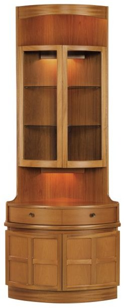 Nathan Bow Front Corner Unit   Teak   Cabinets U0026 Display Units   Hampton U0026  McMurray