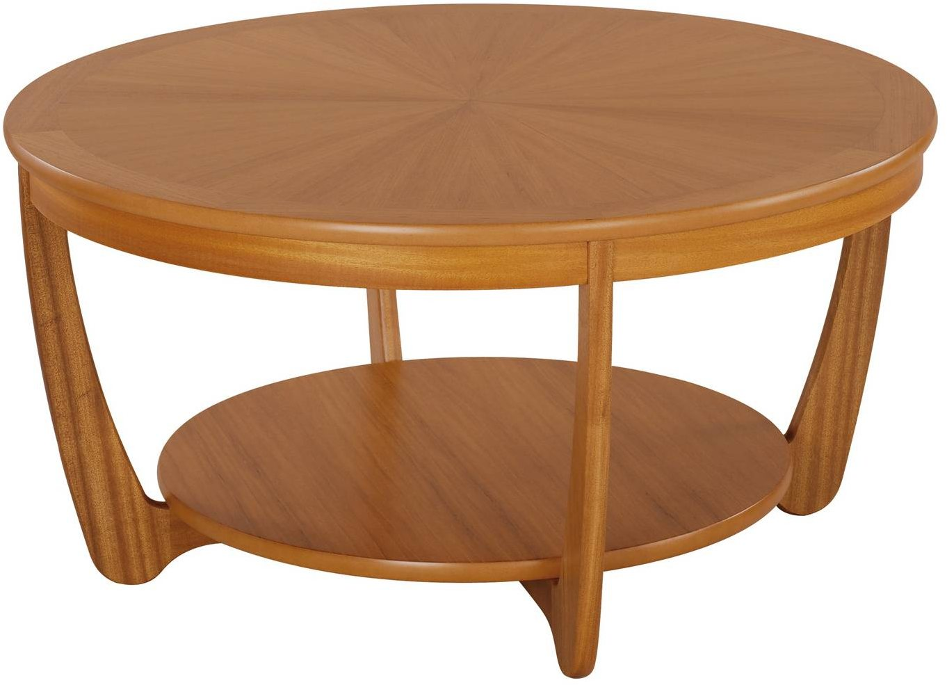 Nathan Sunburst Round Coffee Table - Teak - Coffee Tables ...