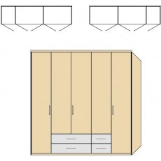 Disselkamp Balance Wardrobe (5 hinged doors)