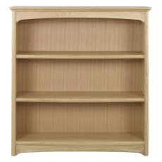 Nathan Shades Oak Mid Double Bookcase
