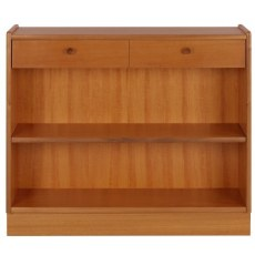 Low Open Bookcase - Teak