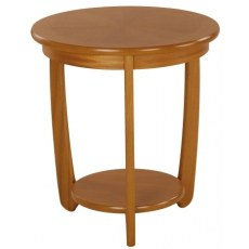 Sunburst Top Round Lamp Table  - Teak
