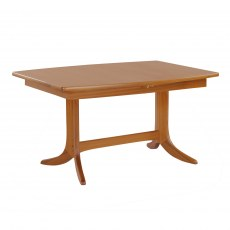 Small Boat Shaped Pedestal Dining Table - Teak