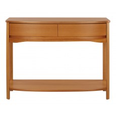 Shaped Console Table - Teak