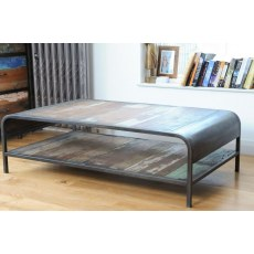 Loft Retro Coffee Table with Shelf