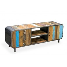 Loft Retro Media Unit with Doors