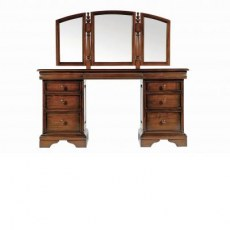 Baker Normandie Dressing Table with Triple Mirror.