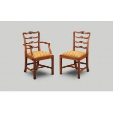Iain James CL02/CL01 Chippendale Ladder Back Dining Chair.