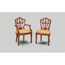 Iain James GU02/GU01 Georgian Urn Back Dining Chair.