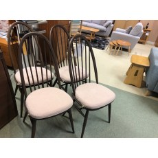 Ercol Set of 4 Quaker Dining Chairs.