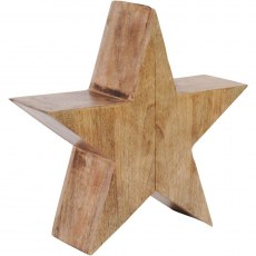 Rustic Wooden Standing Star Small