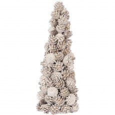 Gold Pinecone Large Natural Tree