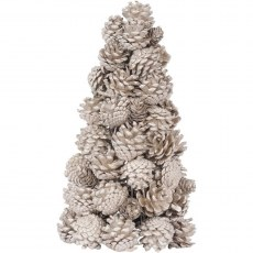 Gold Pinecone Small Natural Tree