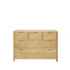 Ercol Bosco 5 Drawer Wide Chest of Drawers.