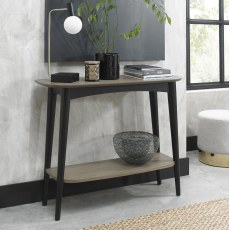 Loft Vintage Weathered Oak  Console Table