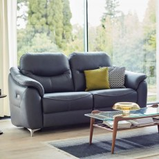 G Plan Jackson 3 Seater DBL Eclectic Recliner Leather Sofa
