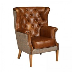 Vintage Winchester Wing Chair.