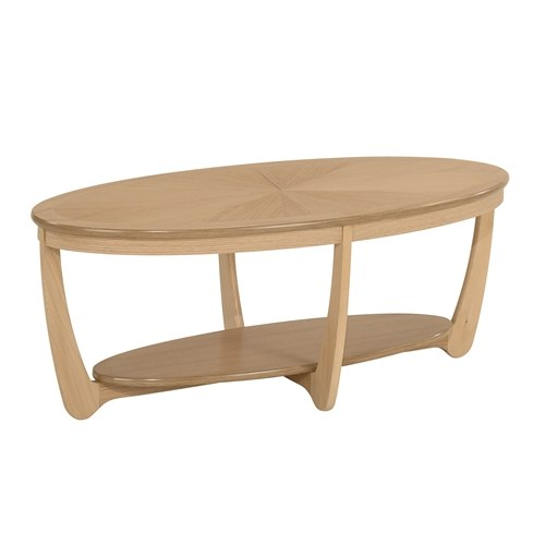 Nathan Nathan Shades Oak  Sunburst Oval Coffee Table