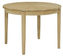 Nathan Nathan Shades Oak Circular Dining Table on Legs with Sunburst top