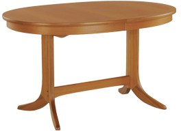 Nathan Oval Pedestal Dining Table  - Teak