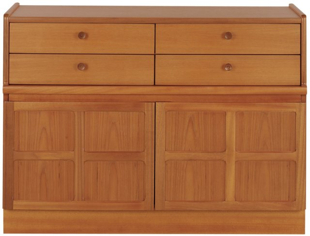 Nathan 4 Drawer Mid Storage Unit - Teak