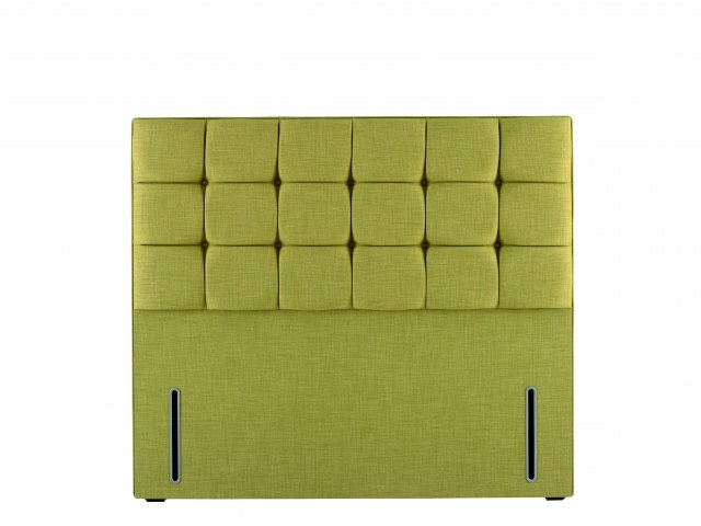 Hypnos Grace Headboard  in euro-slim size and Linoso 500 Lemon upholstered fabric.