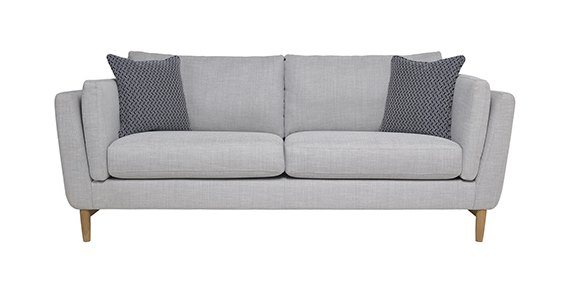 Ercol Favara Medium Sofa in Clear Matt (CM-Oak) finish and F106 fabric