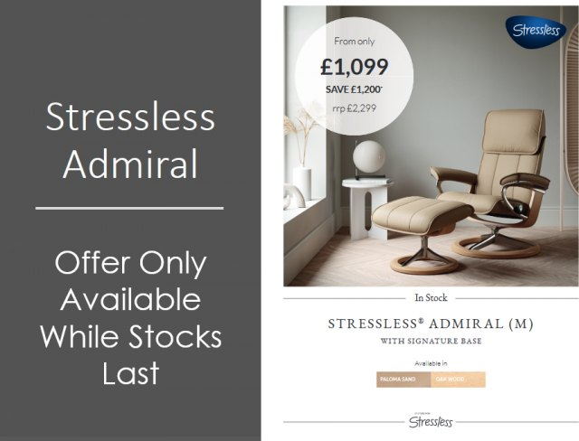 Stressless Admiral Medium Signature Chair (SPECIAL OFFER)